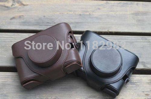 Черный Кожаный Чехол для Камеры Сумка Обложка Для Fujifilm Fuji X10 X20 Finepix освобожденный стоимость доставки + отслеживая номер