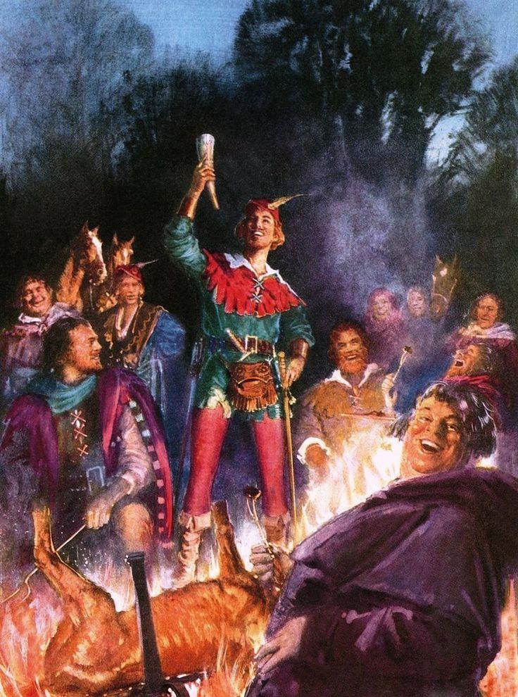 Robin Hood and his Merry Men by John Millar Watt.