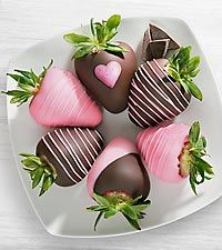 Chocolate Dip Delights™ Love My Mom Real Chocolate Covered Strawberries - 6-piece