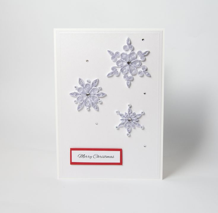 Unique One Of A Kind Handmade Christmas Card Quilling Snowflakes Sparkly Elegant Charming Xmas Greeting Card Etsy by PaperParadisePL