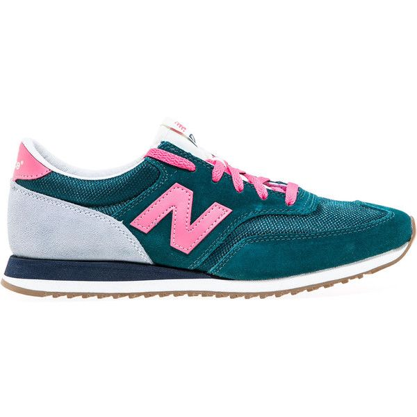 New Balance The Capsule 620 Sneaker in Green & Pink ($80) ❤ liked on Polyvore featuring shoes, sneakers, green, new balance shoes, new balance, green shoes, pink shoes and green trainers