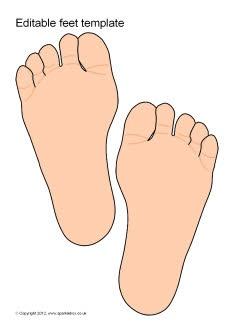 Editable feet template