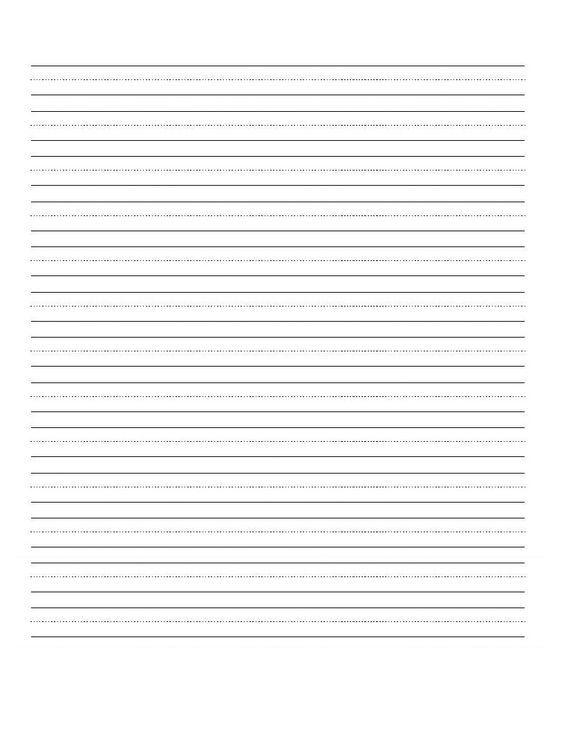 Printable Blank Writing Worksheet