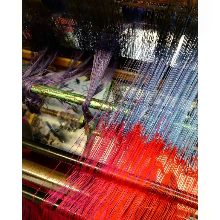 New warp on the loom  | McKernan Woollen Mills | Handmade scarves | Irish design | Made in Ireland | Mens and Womens Accessories