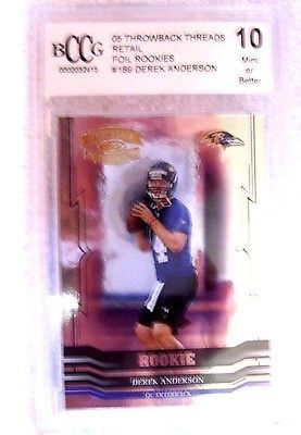 Derek Anderson RC 2005 Throwback Threads Foil Rookies Graded BCCG10-Panthers QB