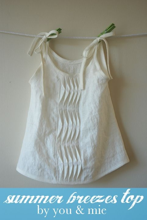 Project Run and Play: Lovely tutorial for creating this top with interesting pleats.