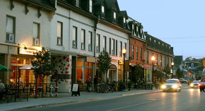 The Cafe District, Hunter Street, Peterborough, Ontario