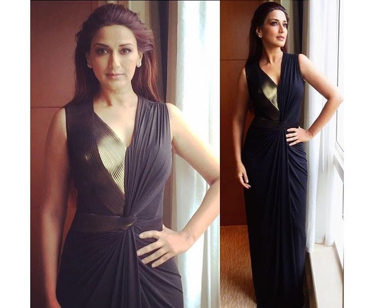 Amit Agarwal # Sonali Bendre # evening gown # structured gown