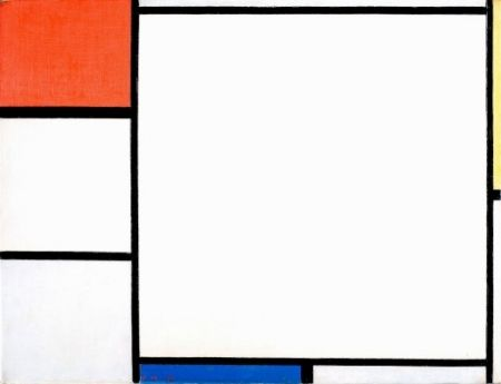 Composition with red, yellow and blue - Piet Mondriaan (1872 - 1944) モンドリアン 赤と黄と青のあるコンポジション