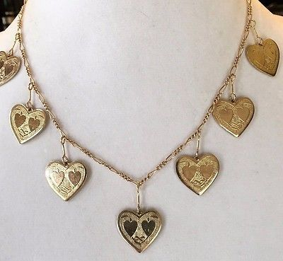 Gold Heart Necklace by Lucy Isaacs  | eBay