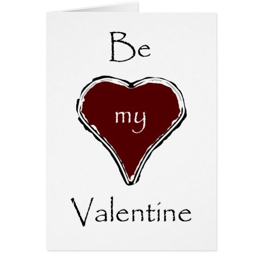 Be my Valentine elegant card with red heart