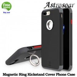 ASTROSOAR Magnetic Ring Car Holder PC + TPU Kickstand Back Cover Phone Case for iphone 7