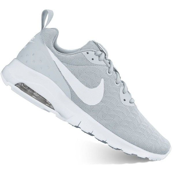 Nike Air Max Motion Women's Athletic Shoes ($80) ❤ liked on Polyvore featuring shoes, athletic shoes, grey, grip shoes, nike, mesh athletic shoes, traction shoes and gray shoes