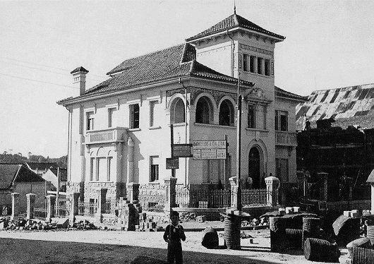 O palacete em construção no final dos anos 1930. Foto: Studio Geremia, divulgação