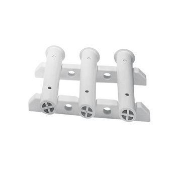 Bulkhead-Mount Storage Racks For 3 Rods