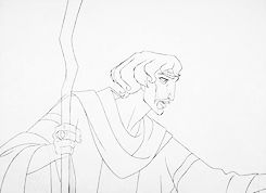 * dreamworks traditional The Prince of Egypt Prince of Egypt pencil test James Baxter finished product