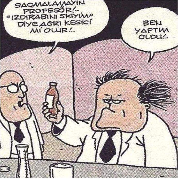 Izdirap... #komik #karikatür #karikatur #enkomikkarikatür #enkomikkarikatur #karikaturcu #karikatürcü #funny #comics #ilac #profesor