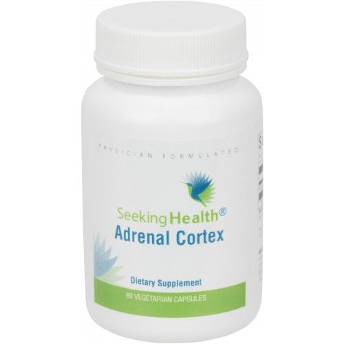 Adrenal Cortex Supplement, Vegetarian. Can help if you have low cortisol. Not overestimating for adrenals as whole adrenal glandulars can.
