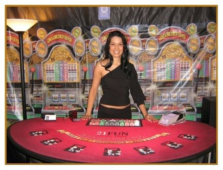 Casino Equipment Rentals  Whether you're looking to rent a Professional Quality Poker Table for your next Poker Night, or want the full setup including Blackjack, Roulette, Pai Gow, Mini Baccarat, Let it Ride or Craps Tables, Slot Machines (available in most cities), KEM Cards and Las Vegas Quality 11.5 gram Poker Chips, we have what you need, for less than you think. Rentals include all setup, and breakdown, and we can even provide you with highly trained professional Casino Dealers and…