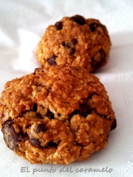 Galletas integrales de avena y chips de chocolate | Recetas Fáciles de Cocina | Recetas Fáciles