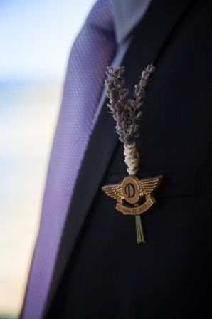 plane boutonniere  | Rustic Sonoma Airplane Airport Wedding Boutonniere #details #wedding