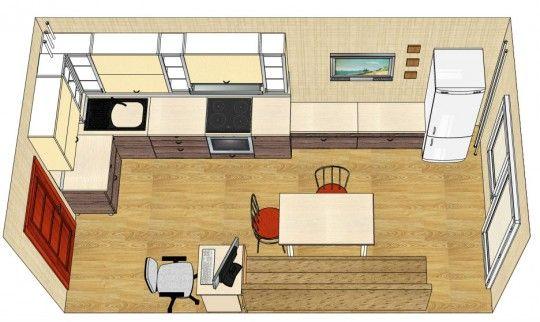 Кухня с балконом 10 кв м дизайн