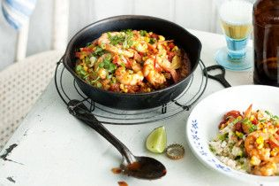 Maque choux with prawns and quinoa - body+soul