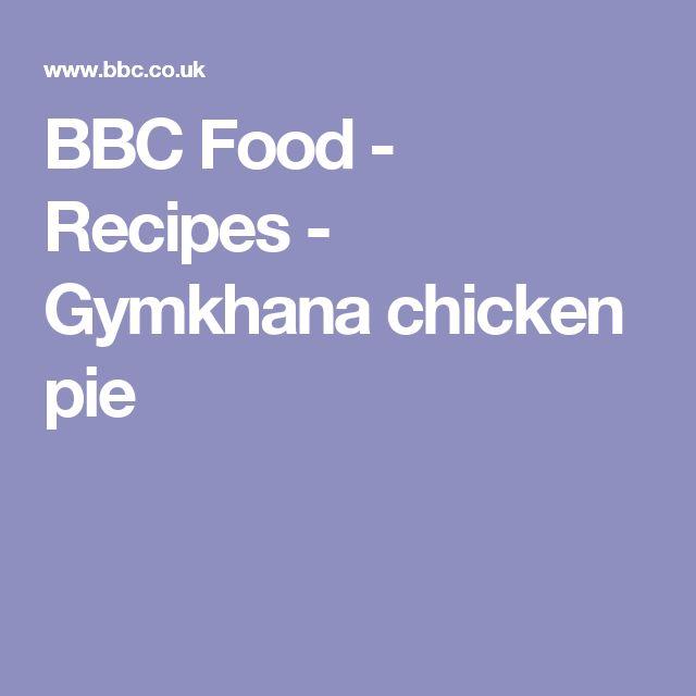 BBC Food - Recipes - Gymkhana chicken pie