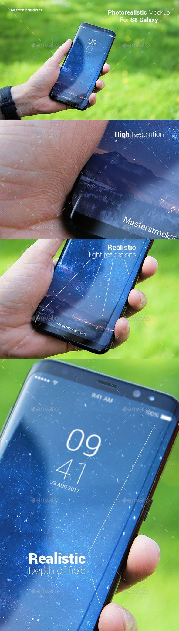 Edit S8 Galaxy Smartphone Photo-realistic Mockup 4