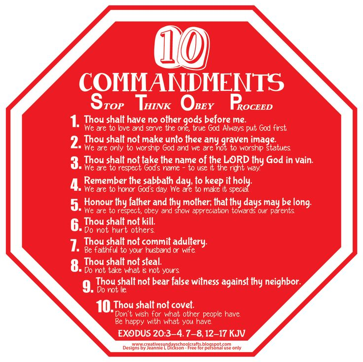 128 best The Ten Commandments images on Pinterest | Ten ...