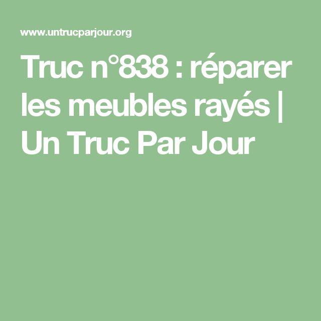 Truc n°838 : réparer les meubles rayés | Un Truc Par Jour