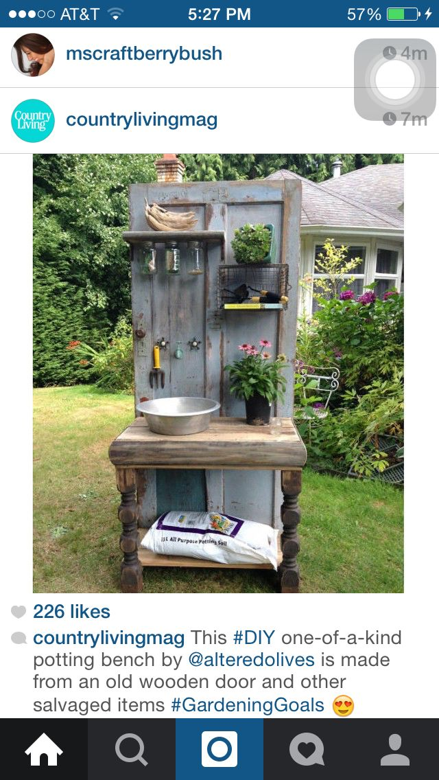 DIY Gartenbank vom CountryLiving Magazine   – Corinne