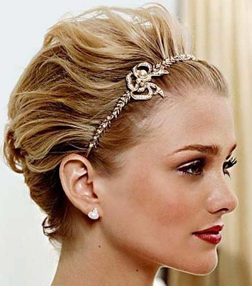 short wedding hairstyles headbands....might be able to pull this off!