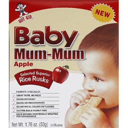 Baby Mum-Mum Apple Rice Rusks, 1.76 oz, (Pack of 6)