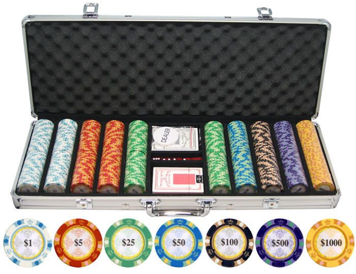 Gamblers Bargain Den - 13.5g 500pc Monte Carlo Clay Poker Chips Set, $97.25 (http://www.gamblersbargainden.com/13-5g-500pc-monte-carlo-clay-poker-chips-set/)