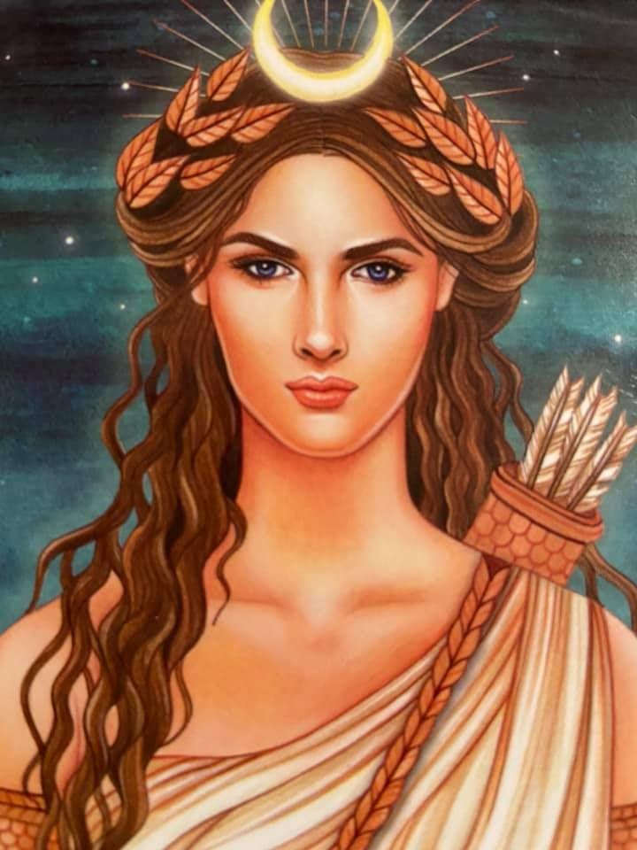 The Goddess Diana Day 31 Greek Goddess Art Artemis Goddess Goddess Art