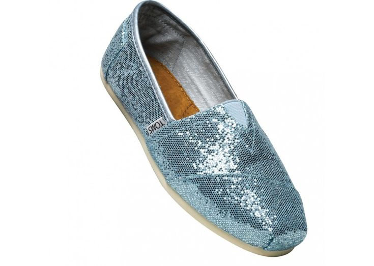 For the mermaid in all of us? Blue Glitter TOMS Classics
