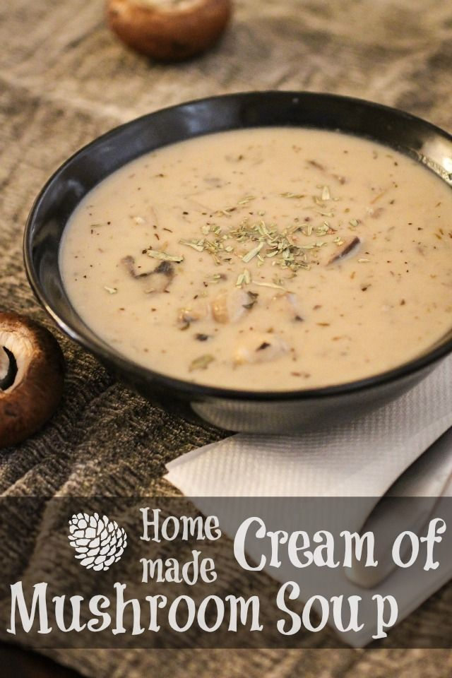 Homemade Cream of Mushroom Soup  will make this again but maybe less Worcester sauce and not skimp on salt again.