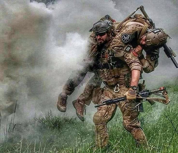 """""""He's not heavy, he's my brother."""" Tag your battle brother! - Via @militaryforce"""