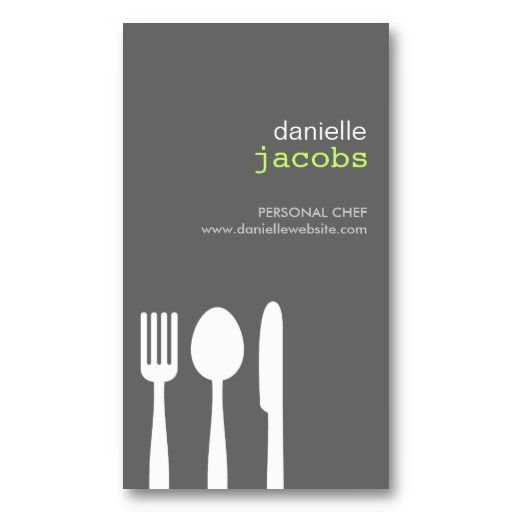 Customizable Business Card For Catering Chefs Restaurants And Food Trucks