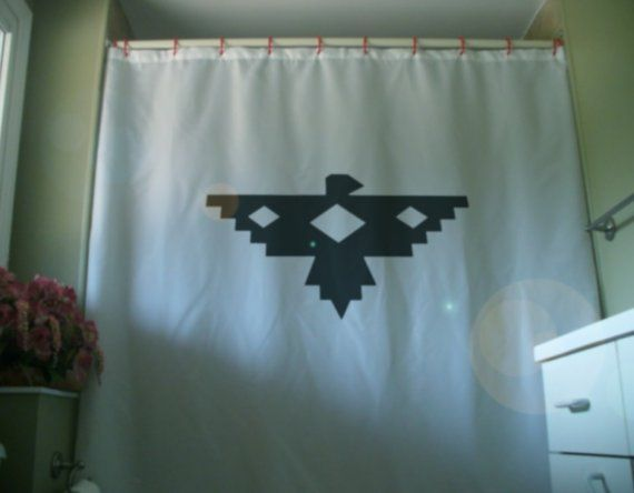 native eagle Shower Curtain design thunderbird legend art America bath | Kid bathroom decor ...