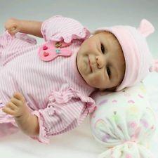 22 Handmade Lifelike Baby Girl Doll Silicone Vinyl Reborn Baby Newborn Preemie