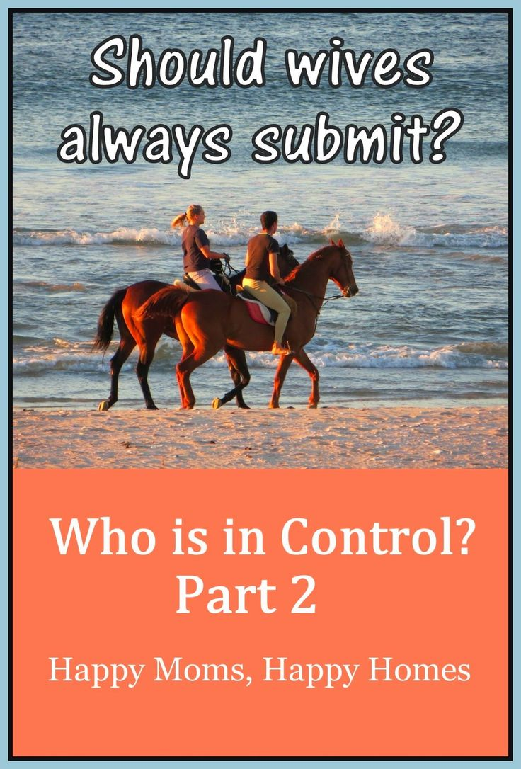 Who's in Control - Part 2 of 3 ~ Happy Moms, Happy Homes ~ Christian marriage, submission, husbands and wives