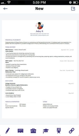 39 best resumecv apps images on pinterest apps resume cv and