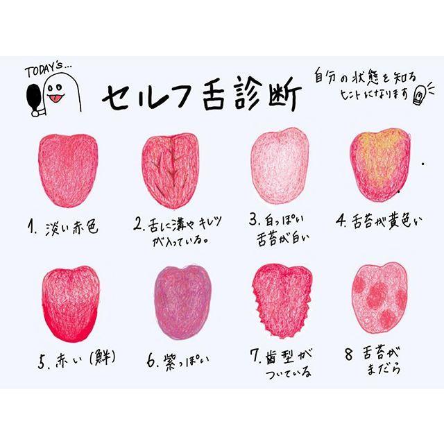 セルフ舌診断 私も普段チェックしている舌の状態 見えない身体の中で起こっていることは 表面に沢山サインとして出ています 今日は舌の状態を見て身体のサインを 知る方法をお伝えしたいと思います 健康な舌 舌の健康 中国医学 健康