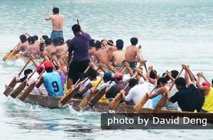 Dragon Boat Festival China - date varies from year to year - Dragon boat racing is said to originate from the legend of people paddling out on boats to seek the body of patriotic poet Qu Yuan (343–278 BC), who drowned himself in the Miluo River.