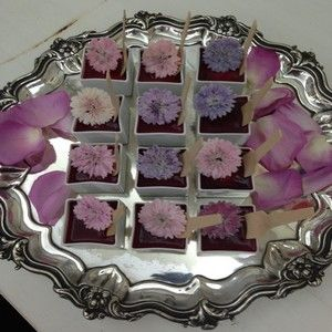 Meadowsweet Crystallised Cornflowers used at the launch of the new Jo Malone fragrance Sept 2013.