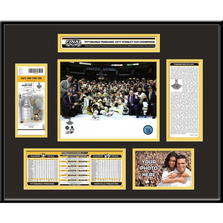 2017 Stanley Cup Champions Pittsburgh Penguins Ticket Frame, Team