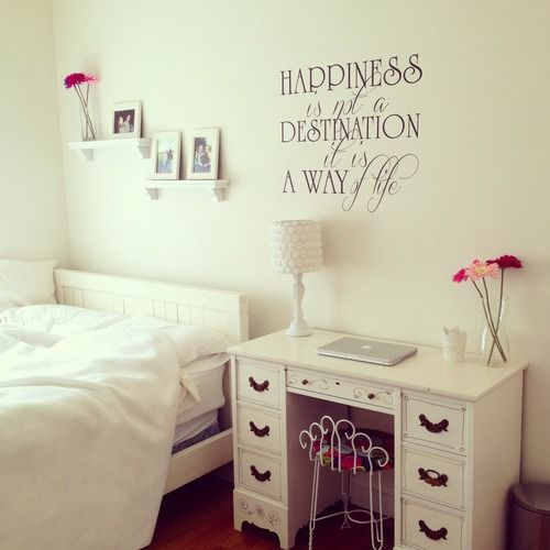 Bedroom For Teenage Girls Tumblr room with quote                                                                                                                                                                                 More