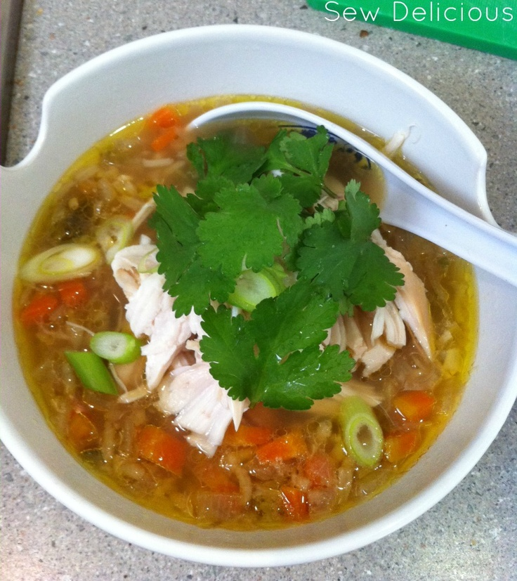 Sew Delicious: Cure A Cold Chicken Soup